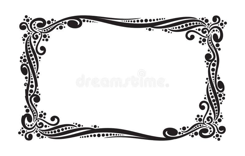 Marco negro del vintage con el lugar vac?o para su texto u otro dise?o, tarjeta de felicitaci?n del ejemplo del vector libre illustration
