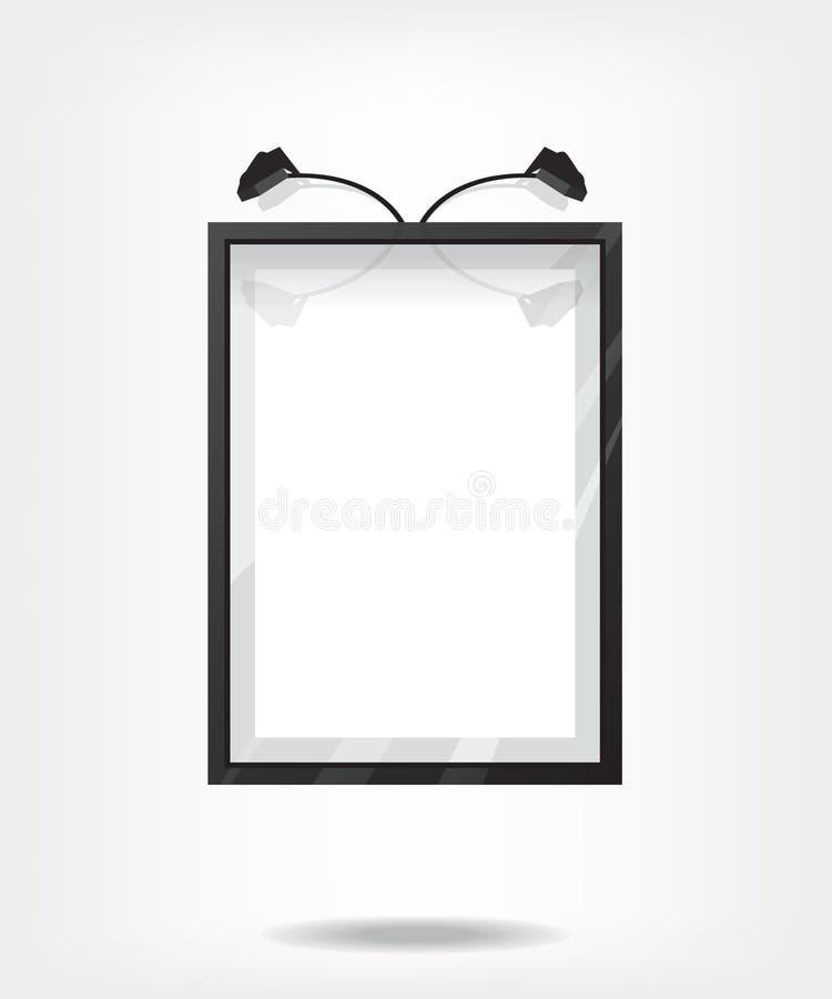 Marco negro en la pared libre illustration