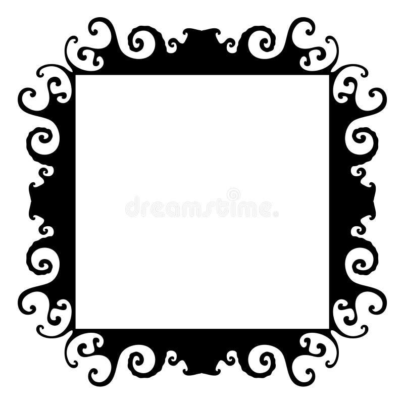 Marco negro orgánico salvaje stock de ilustración