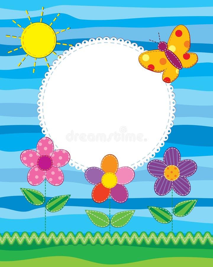 Marco o tarjeta de la foto del libro de recuerdos ilustración del vector