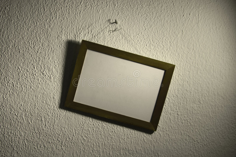 Marco oblicuo en la pared fotos de archivo