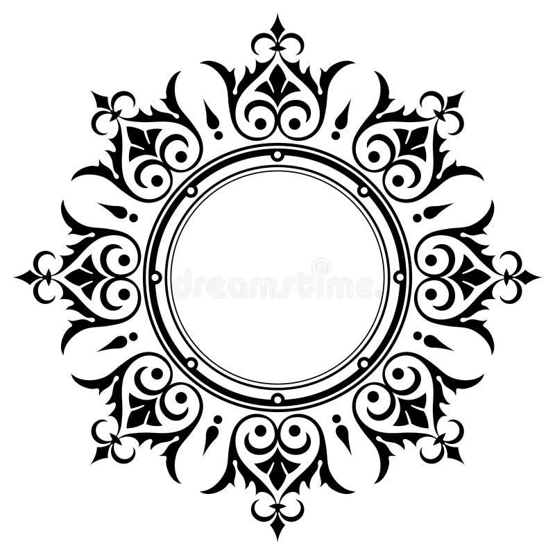 Marco ornamental de la frontera de la vendimia ilustración del vector