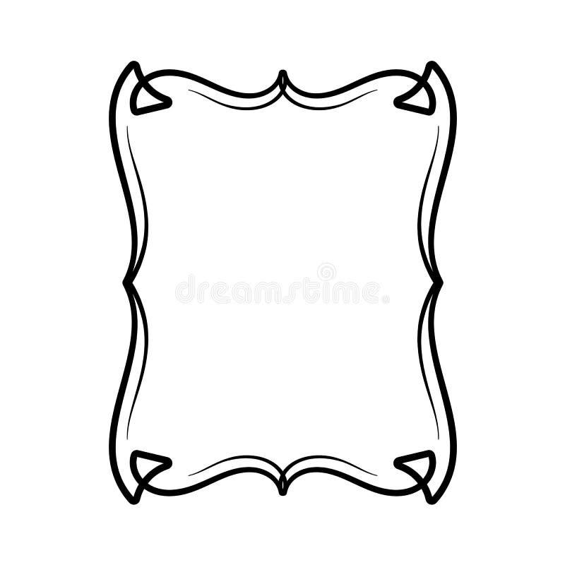 Marco ornamental decorativo stock de ilustración