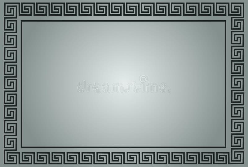Marco ornamental griego en gris ilustración del vector