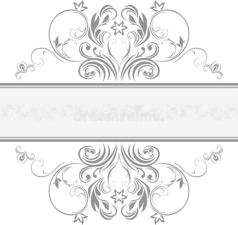 Marco ornamental para el diseño stock de ilustración