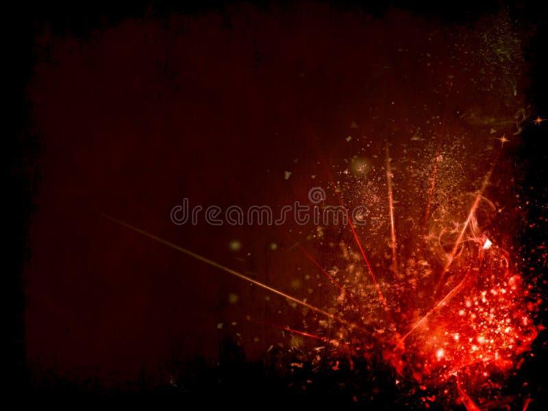 Marco oscuro con los elementos coloridos de la fantasía stock de ilustración