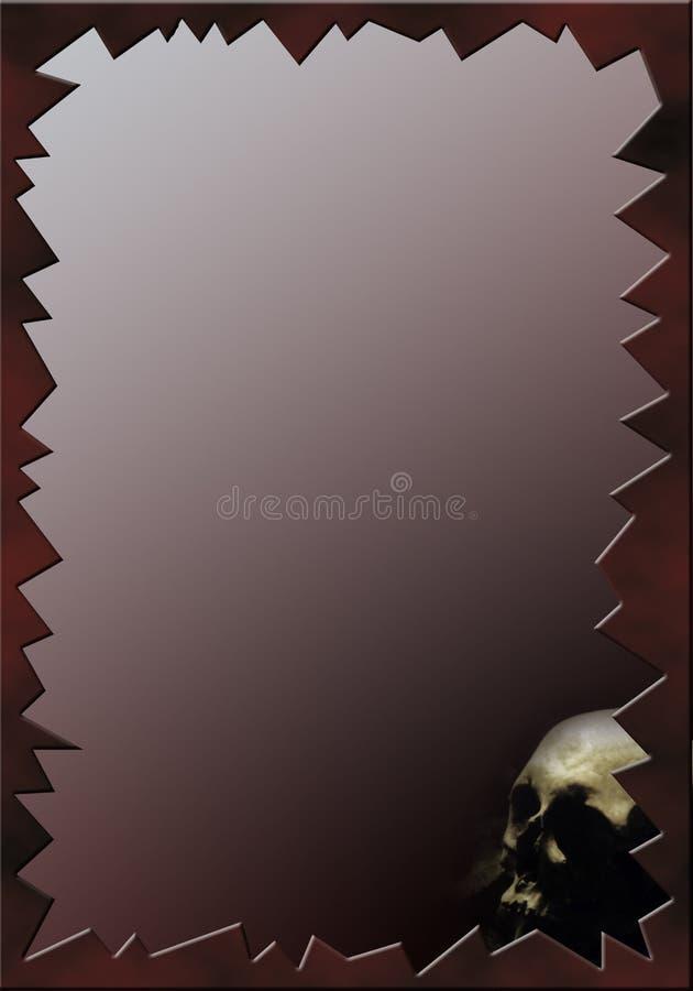 marco oscuro decorativo con el cráneo ilustración del vector