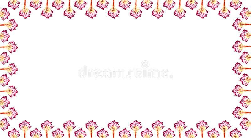 Marco ostentoso de los pétalos. stock de ilustración