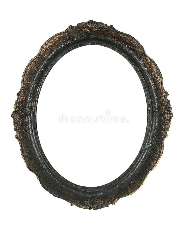 Marco oval de la foto fotografía de archivo