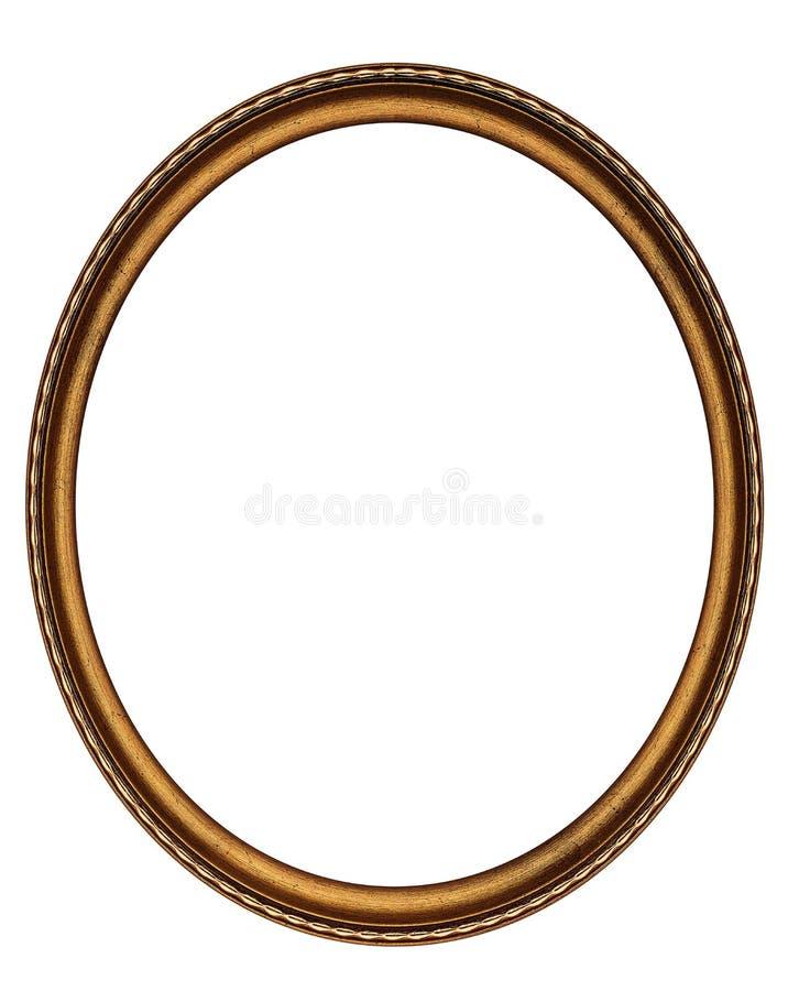 Marco oval de madera fotos de archivo