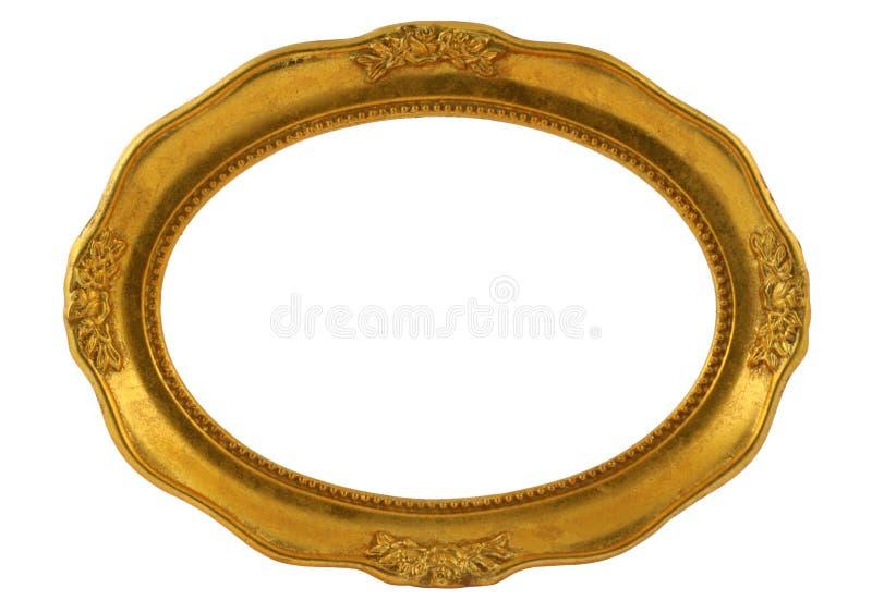 Marco oval dorado foto de archivo libre de regalías