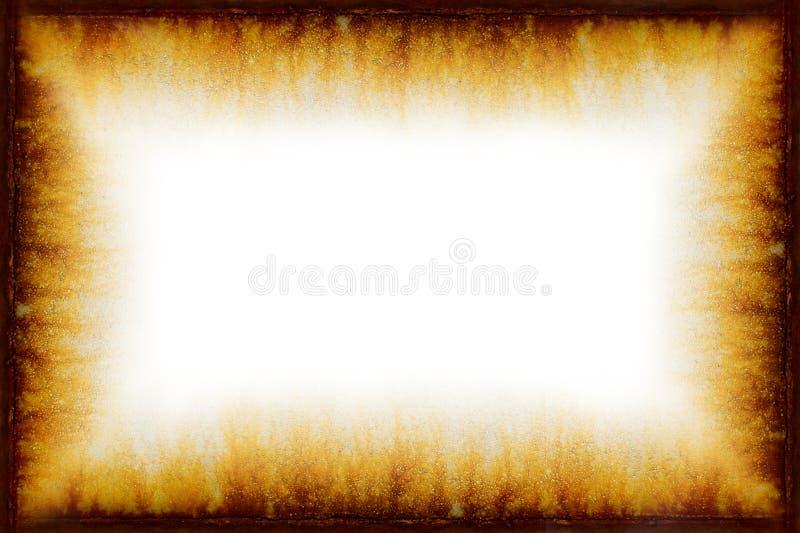 Marco oxidado de la vendimia de Grunge con el fondo blanco stock de ilustración