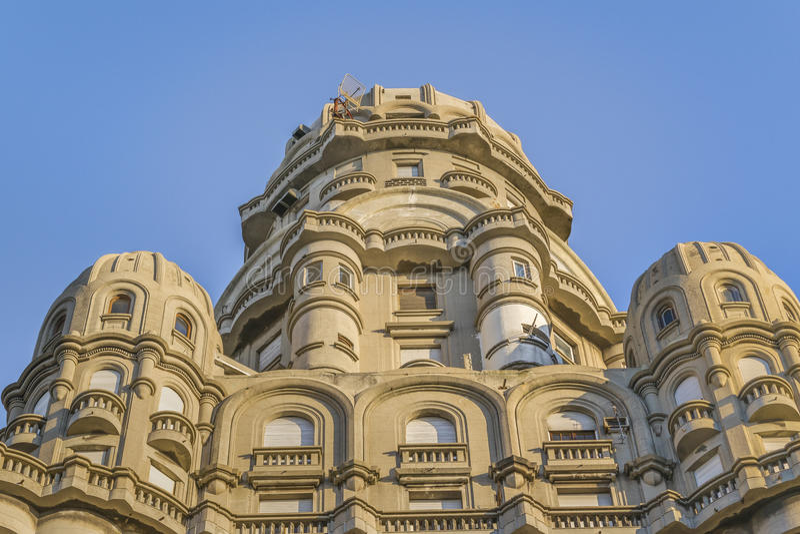 Marco Palacio Salvo Palace de Montevideo foto de stock