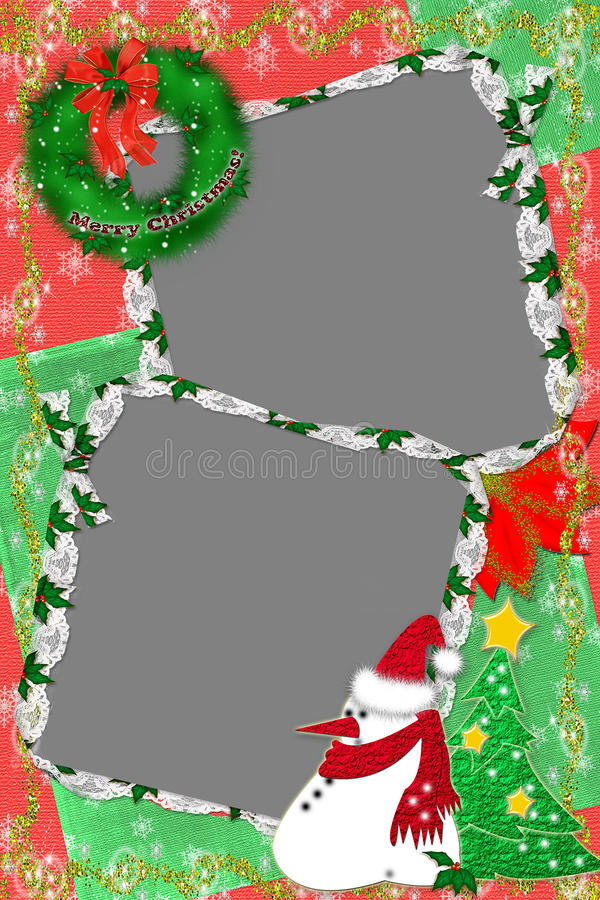 Marco para una foto para la Navidad foto de archivo