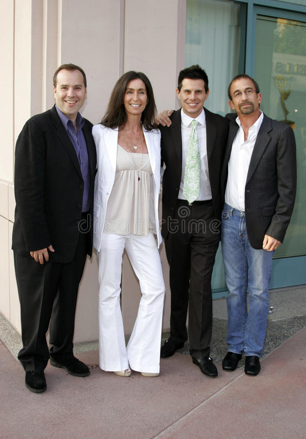 Marco Pennette, Teri Weinberg, Silvio Horta and James Hayman. Attend the Academy of Television Arts & Sciences Presentation An Evening with Ugly Betty held at stock images
