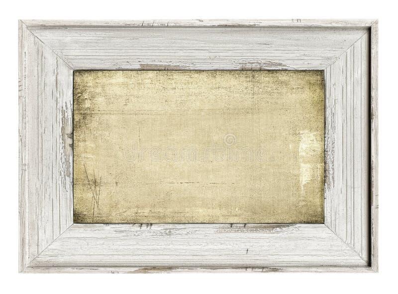 Marco Pintado Madera Aislado En Blanco Foto de archivo - Imagen de ...