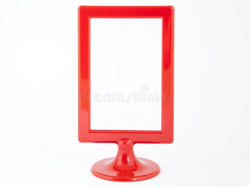 Marco plástico rojo de la foto imágenes de archivo libres de regalías