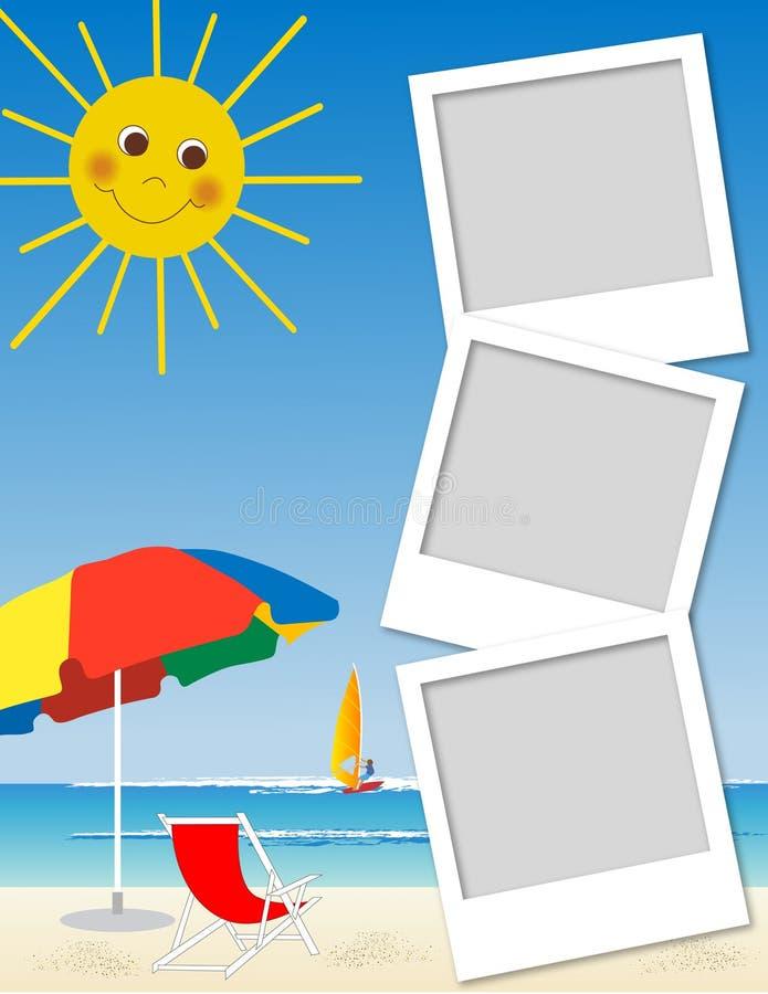 Marco polaroid ilustración del vector