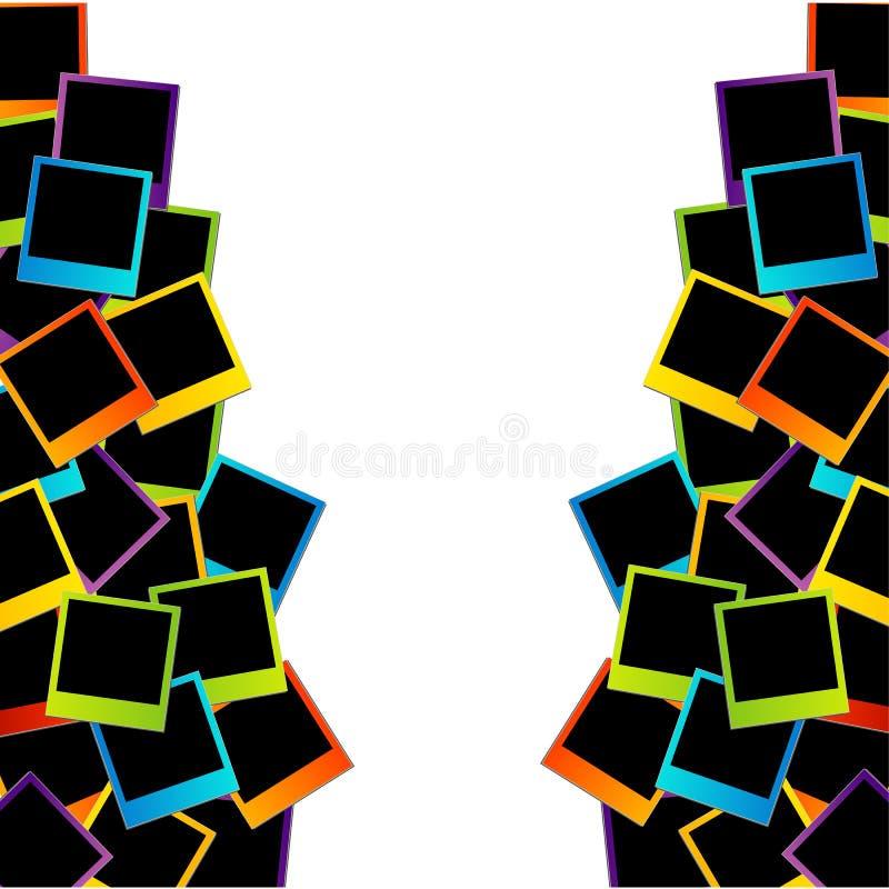 Marco polaroid colorido stock de ilustración