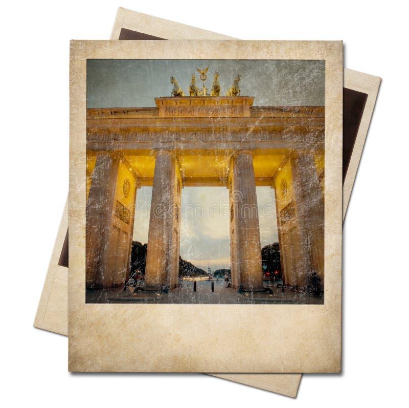Marco polaroid de la foto de Berlín del vintage aislado fotografía de archivo
