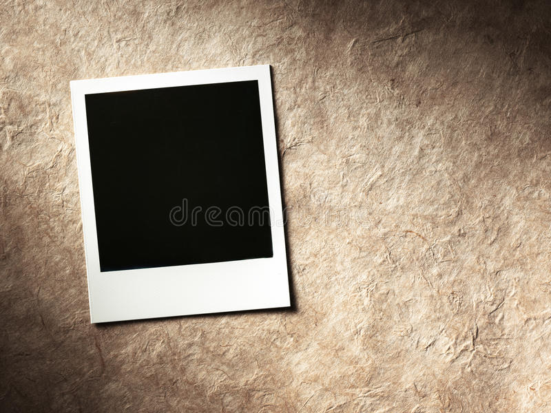 Marco polaroid de la foto del estilo fotos de archivo