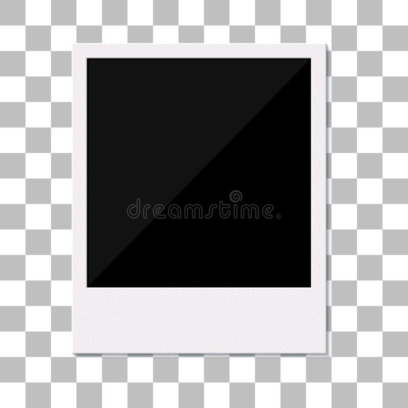 Marco polaroid retro en blanco de la foto. ilustración del vector