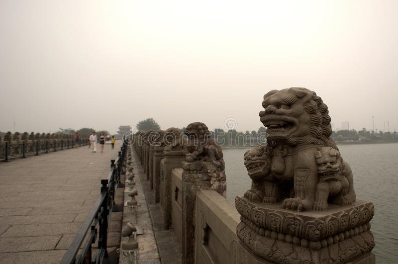 Marco Polo Bridge, Wanping, China royalty-vrije stock afbeeldingen