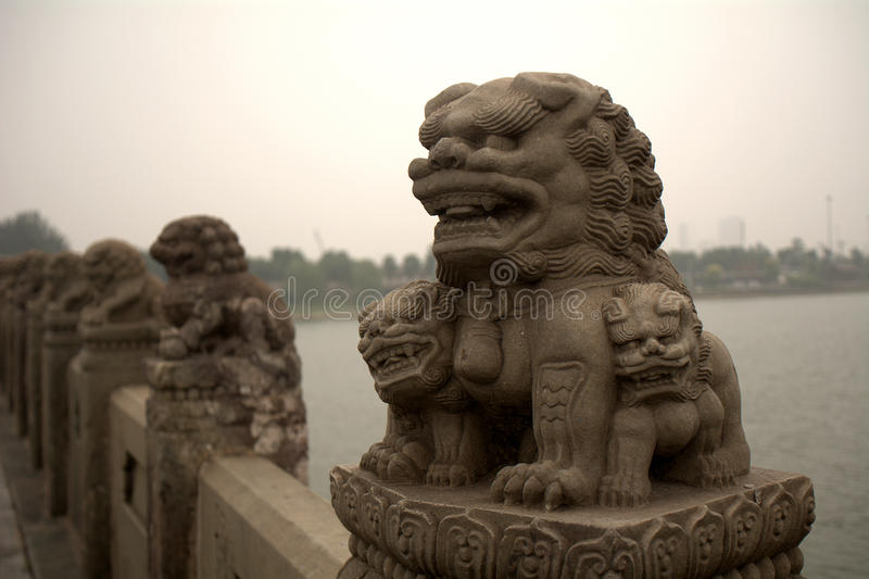 Marco Polo Bridge, Wanping, China stock foto's