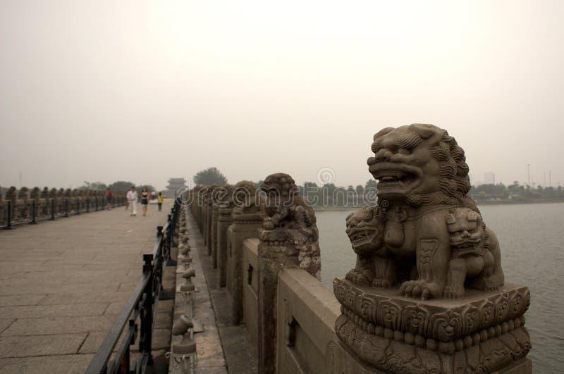 Marco Polo Bridge, Wanping, Chine images libres de droits