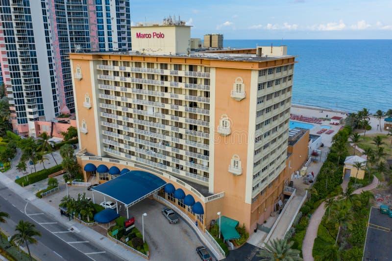 Marco Polo Resort Sunny Isles Beach FL los E.E.U.U. foto de archivo libre de regalías