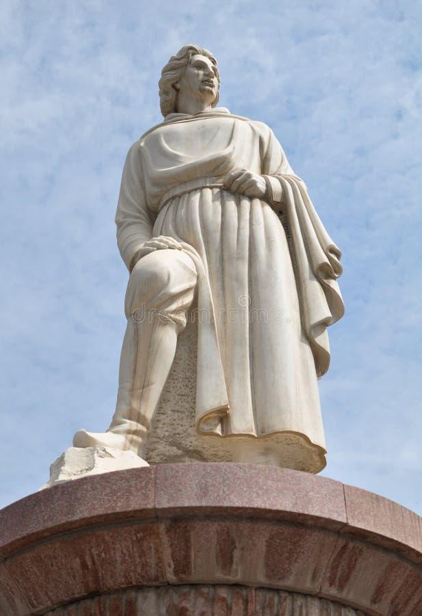 Marco Polo-standbeeld stock afbeelding