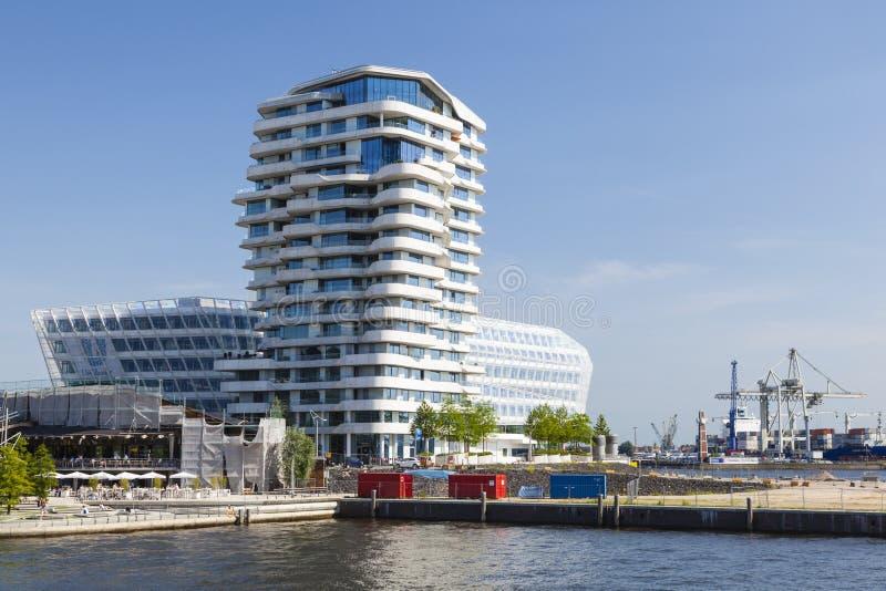 Marco Polo Tower i Hamburg, Tyskland, ledare arkivbilder