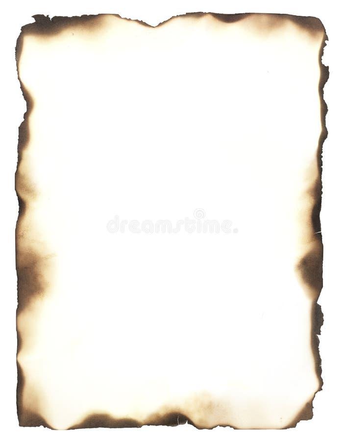 Marco quemado de los bordes fotos de archivo libres de regalías