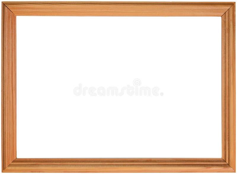 Marco real de madera para la imagen o foto, aislada en el backgound blanco, con la trayectoria de recortes imágenes de archivo libres de regalías