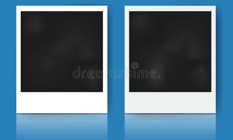 Marco realista de la foto con diseño del vector de la sombra stock de ilustración