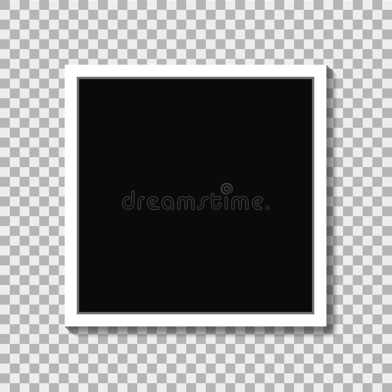 Marco realista de la foto en estilo de la maqueta en fondo aislado Vector eps10 libre illustration