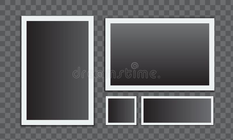 Marco realista de la foto Ilustración del vector ilustración del vector