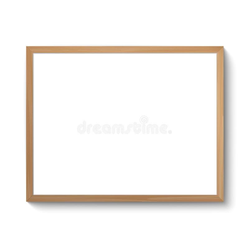 Marco realista de la foto stock de ilustración