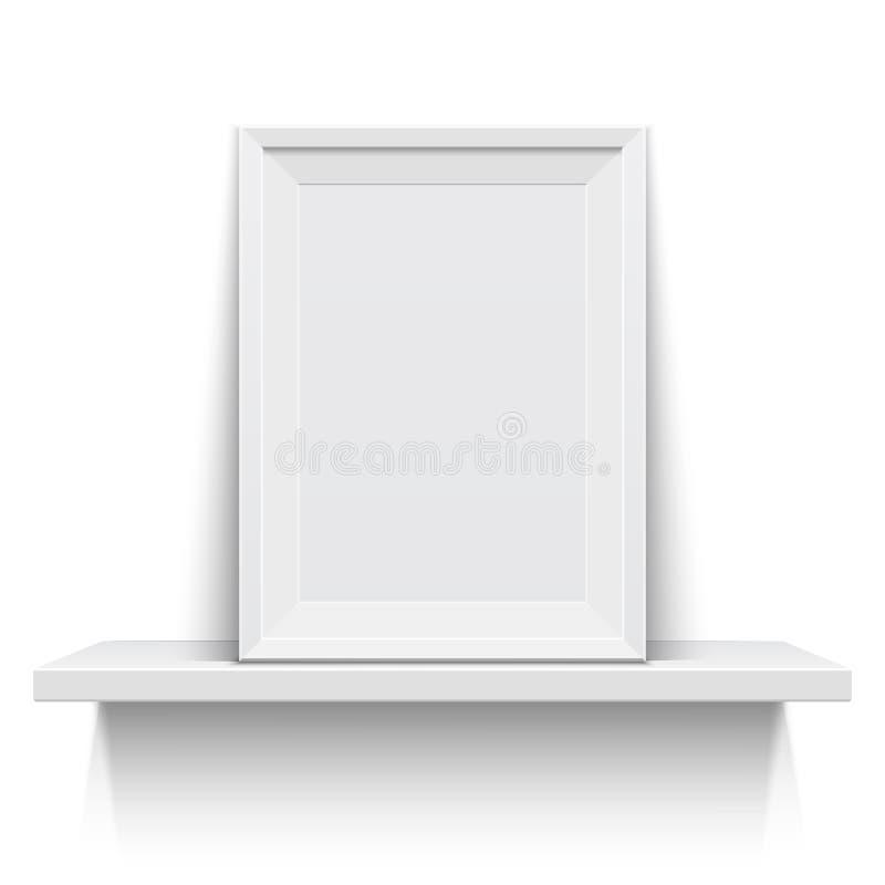 Marco realista en el estante blanco libre illustration