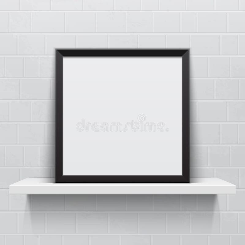 Marco realista en el estante realista blanco, libre illustration