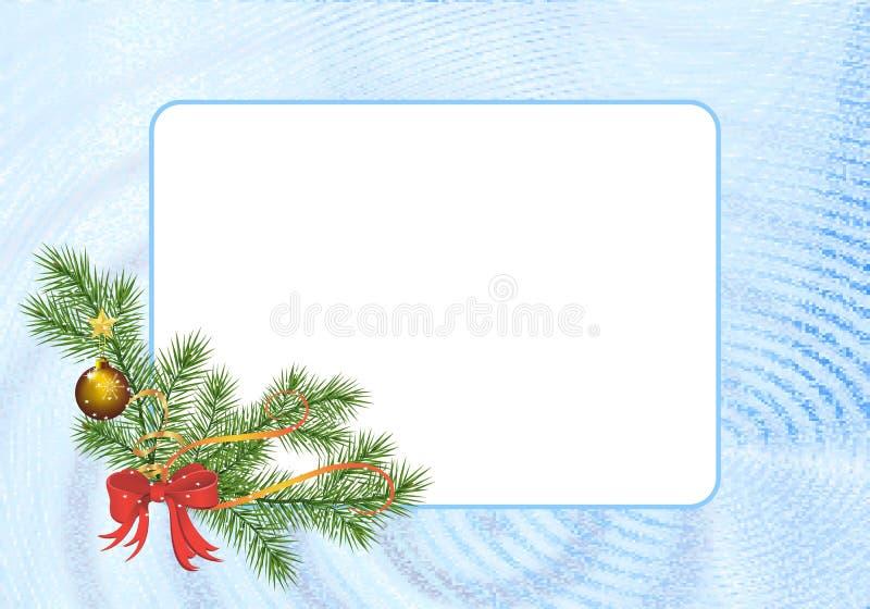 Marco rectangular de la Navidad ilustración del vector
