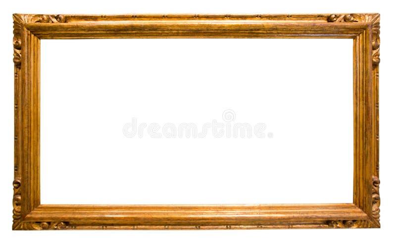 Marco rectangular para un espejo en fondo aislado imágenes de archivo libres de regalías