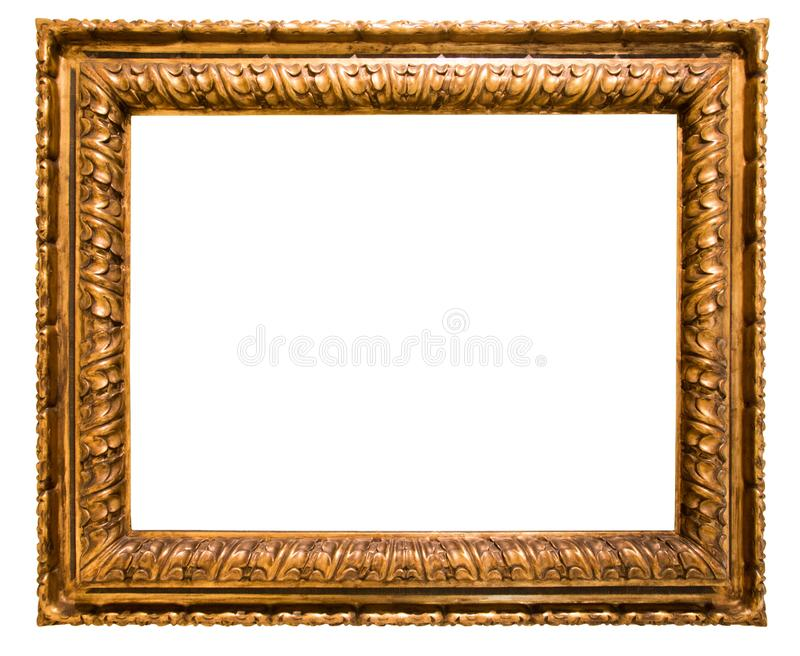 Marco rectangular para un espejo en fondo aislado fotos de archivo