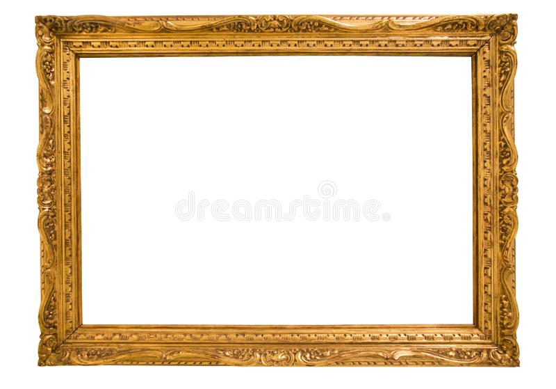 Marco rectangular para un espejo en fondo aislado libre illustration