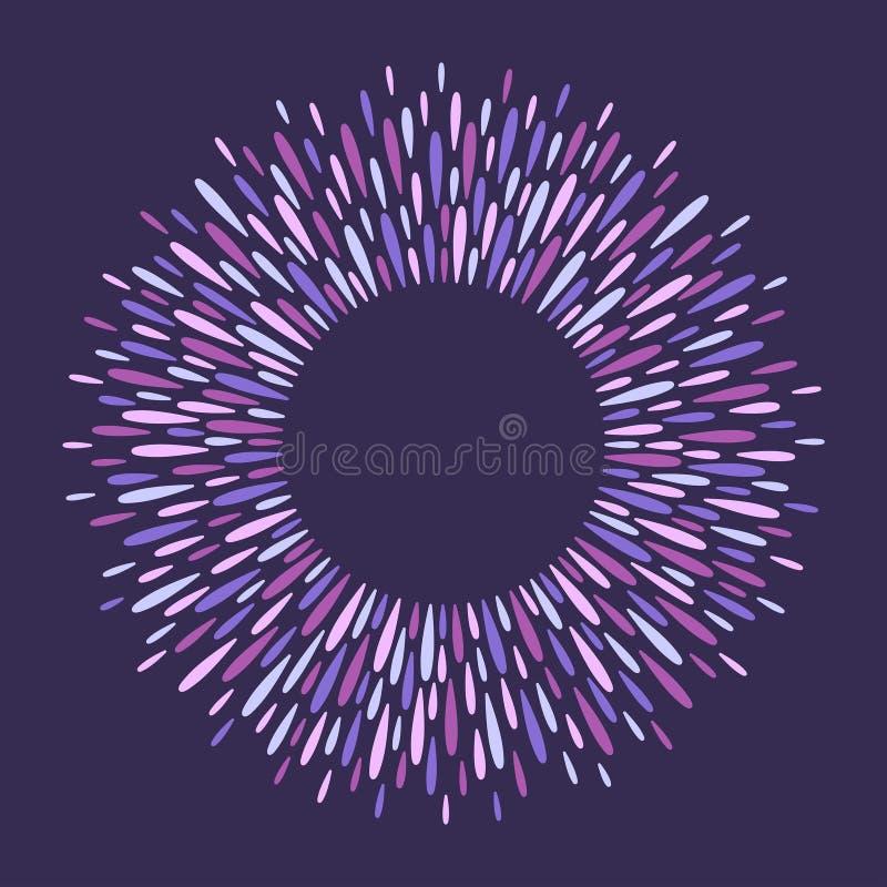 Marco redondo, anillo de chapoteo mágico hecho de descensos largos libre illustration