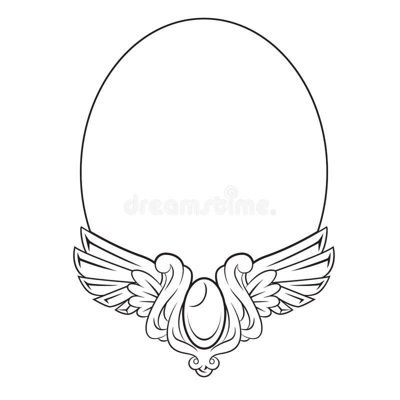 Marco redondo con el elemento decorativo ilustración del vector