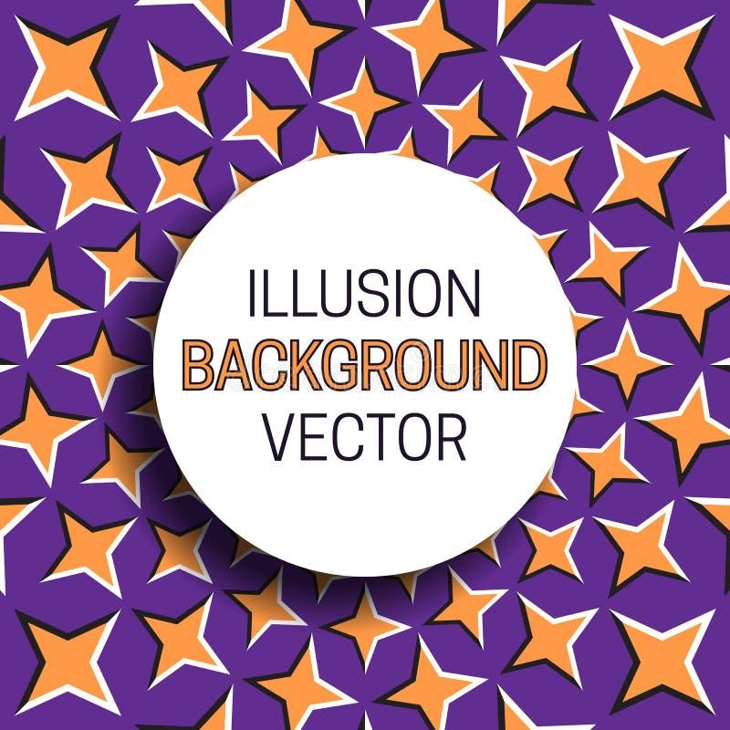 Marco redondo con la sombra en fondo de la ilusión del modelo de estrellas móvil stock de ilustración