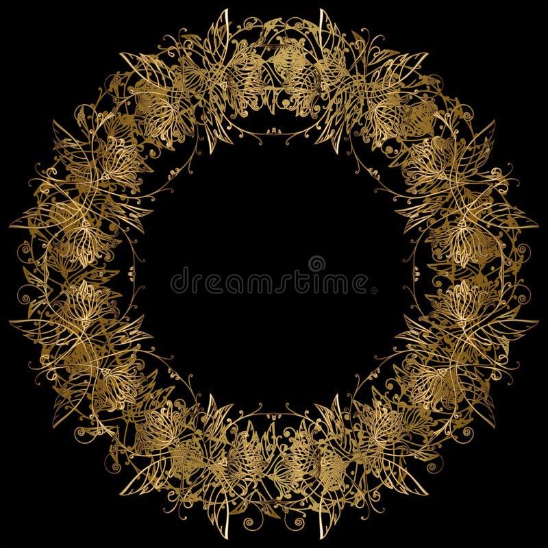 Marco redondo de oro adornado libre illustration