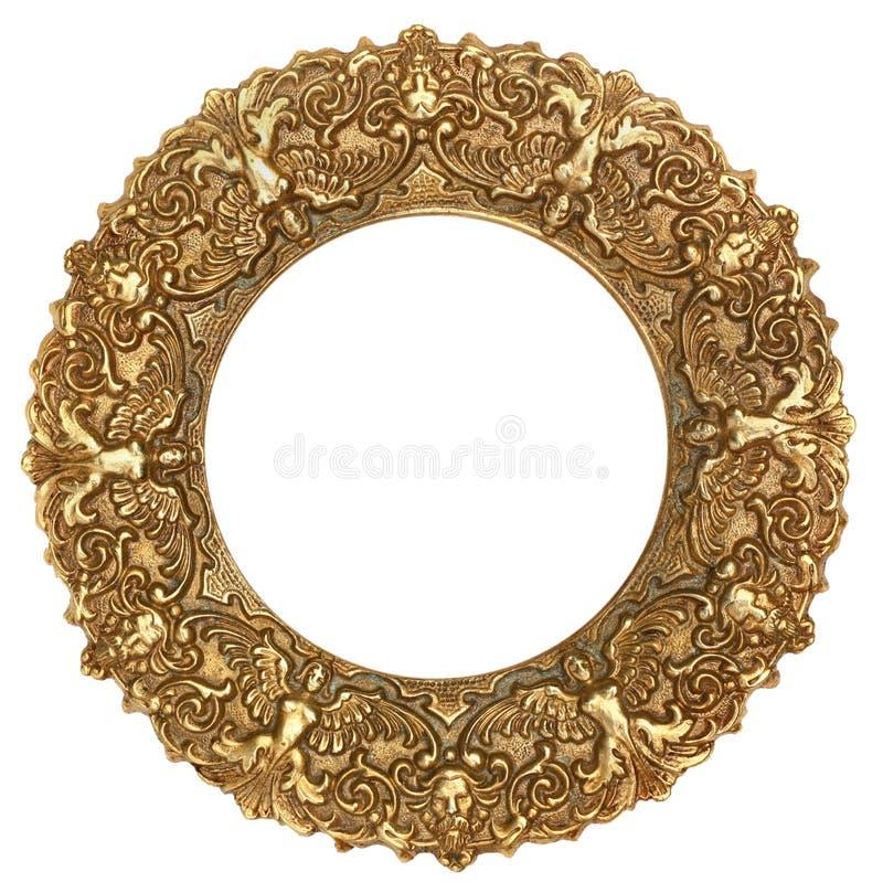 Marco redondo del oro imagen de archivo. Imagen de galería - 51953173