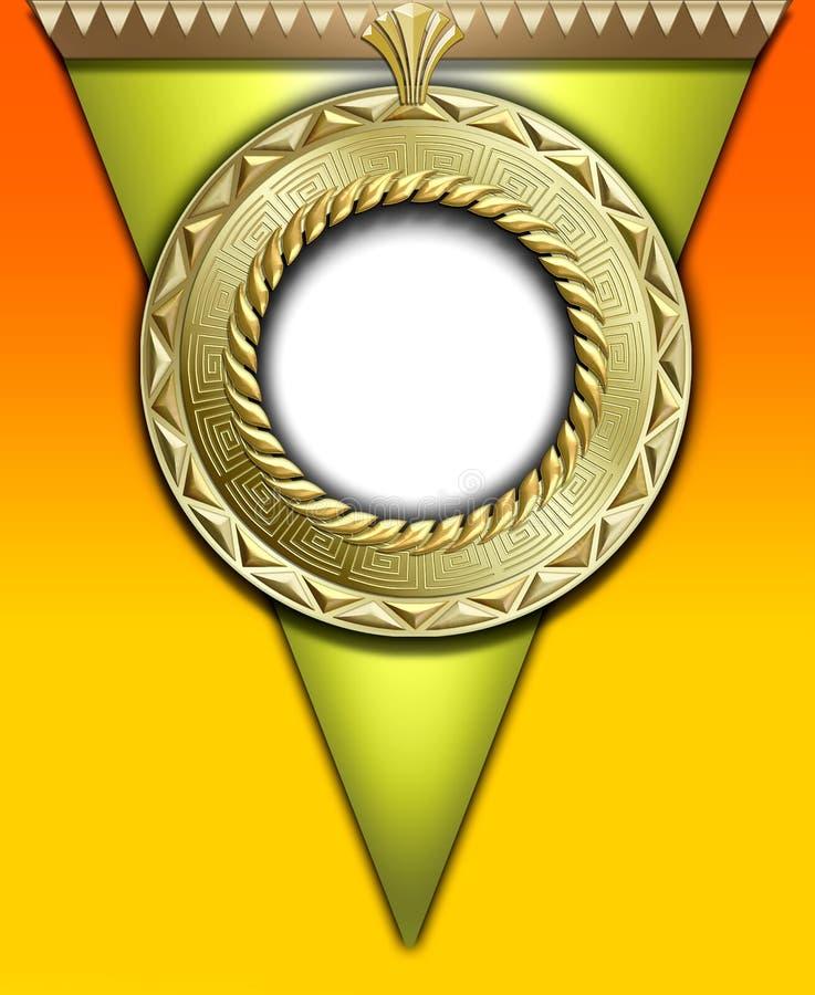 Marco redondo del oro de la vendimia ilustración del vector